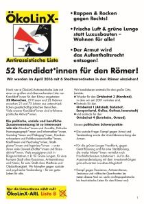 ÖkoLinX-ARL 52 Kandidat*innen für den Römer!