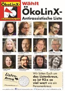 ÖkoLinX-ARL 52 Kandidat*innen für den Römer! Gesichter-Plakat
